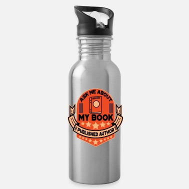 Book book author book books gift - Water Bottle