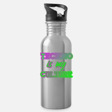 Hardstyle Techno Culture Quote | Rave Raver Trance Hardstyle - Water Bottle