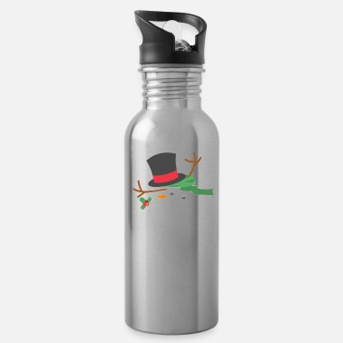 Frost Snowman Meltdown Christmas Holiday Stress Winter - Water Bottle