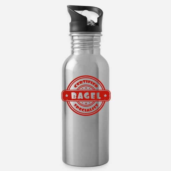 Gift Idea Mugs & Drinkware - Certified Bagel Specialist - Water Bottle silver