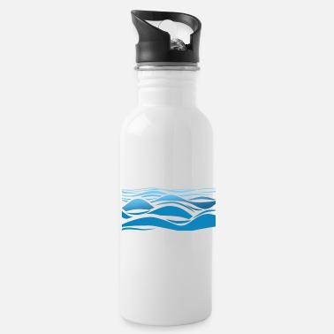 Waves Happiness comes in waves surfer - Water Bottle