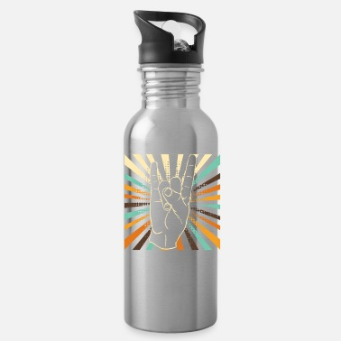 Hard Rock Vintage rock and roll hand - Water Bottle