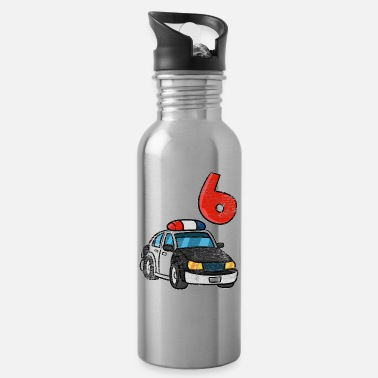 Police 6 Birthday - Water Bottle
