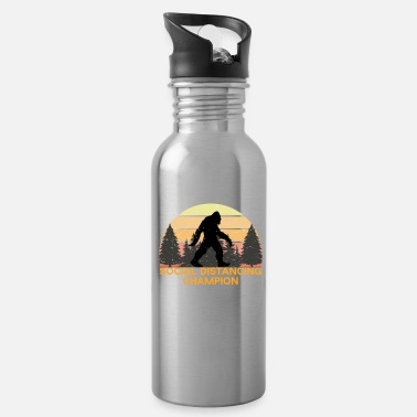 Record Champion Social Distancing Champion Funny Bigfoot - Water Bottle