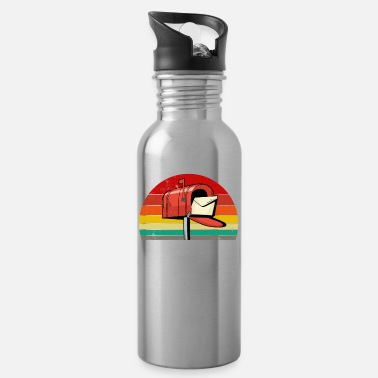 Post Box Retro Sunset Post Box Postal Worker Ballot Voting - Water Bottle