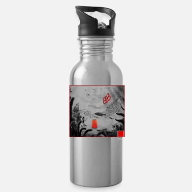 Claims CORAL RED - full white by COLORBLIND WorldView - Water Bottle