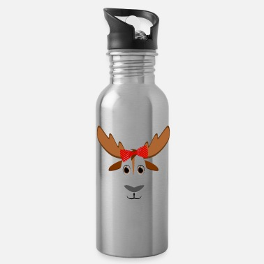 Wild Floral Moose Animal Halloween Costume Gift - Water Bottle