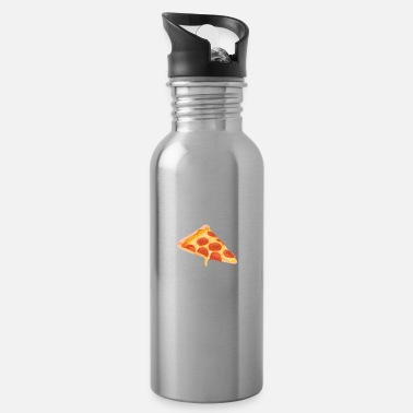 Belly Dad Bod Powered By Pizza Father Figure Gifts Idea - Water Bottle