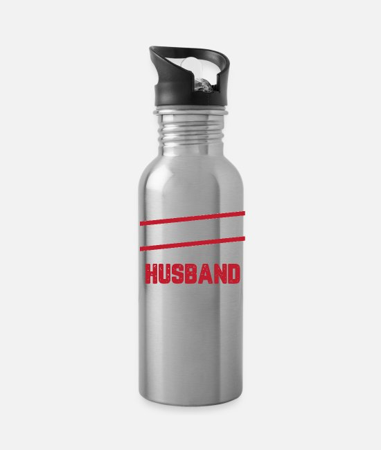 Bachelorette Party Mugs & Cups - Boyfriend Fiance Husband Motive - Water Bottle silver