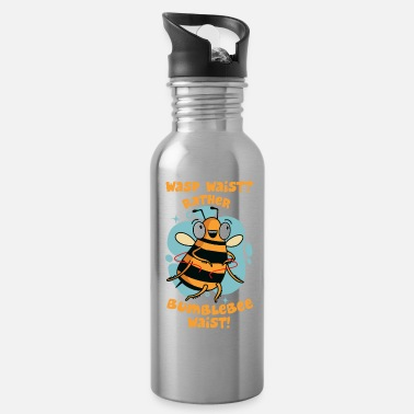 Pun Bee Wasp Bumblebee Wasp Waist Bumblebee Hip Funny - Water Bottle