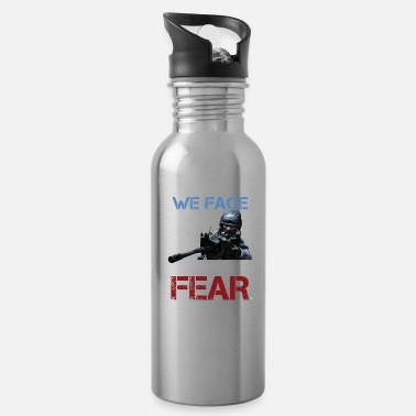 Ctf GAMING we face what you fear - Water Bottle