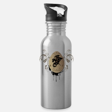 Black And Gold Wonderful dragon in black and gold - Water Bottle