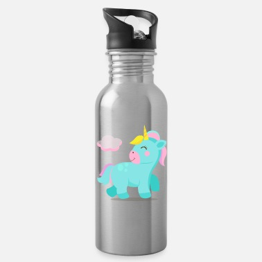 Set of four lovely baby unicorns 1 - Water Bottle
