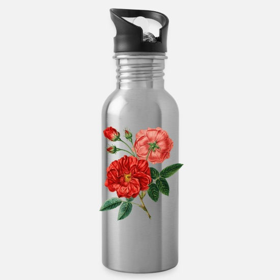 Rose And Butterfly Mugs & Drinkware - 146 - Water Bottle silver