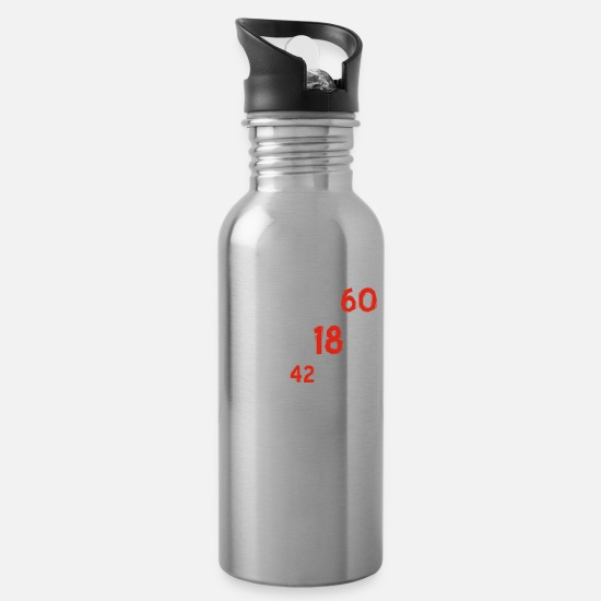 Birthday Mugs & Drinkware - 60th birthday designs - Water Bottle silver