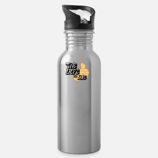 Singapore Mugs & Drinkware - the life is one - Water Bottle silver