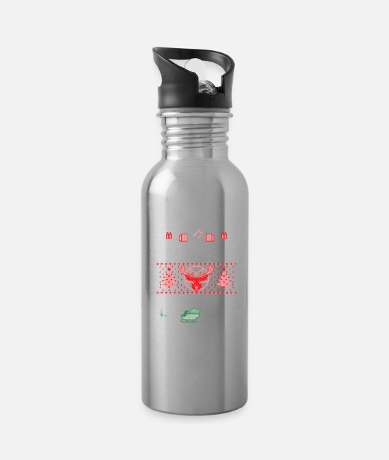 Christmas Mugs & Cups - Ugly Christmas - Water Bottle silver