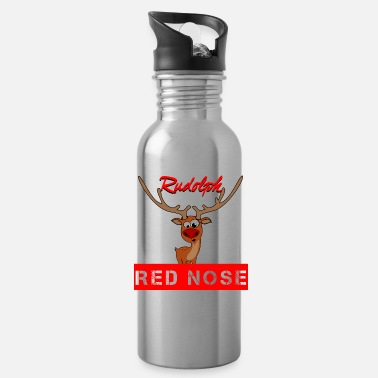 Red Nose Rudolph and the red nose on Xmas - Water Bottle