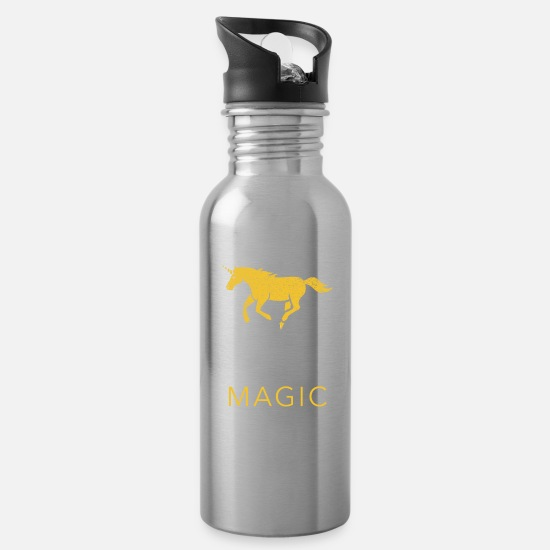 Fable Mugs & Drinkware - Unicorn Magical Fantasy Fable Story Gift - Water Bottle silver