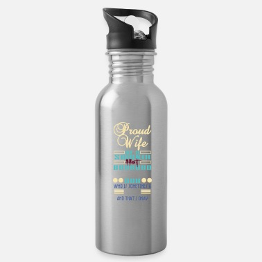 Schland Proud Wife Of A Smokin' Hot Bearded Chubby Guy - Water Bottle