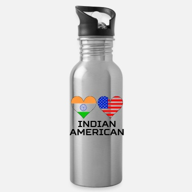 American Indian Indian American Hearts - Water Bottle