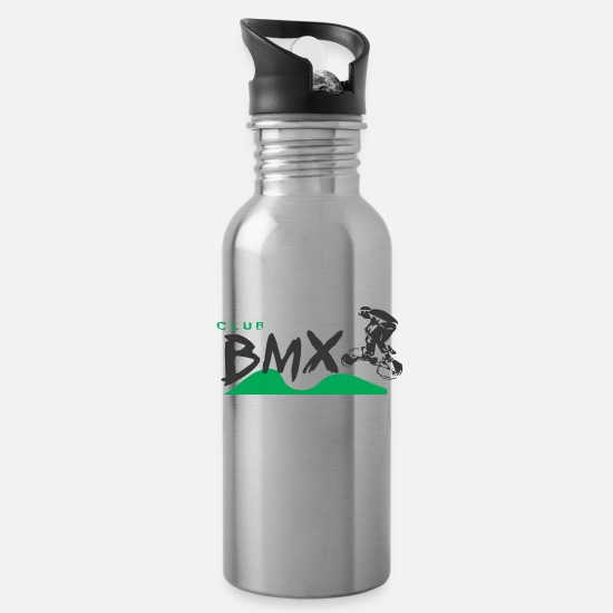 Birthday Mugs & Drinkware - Club Bmx - Water Bottle silver