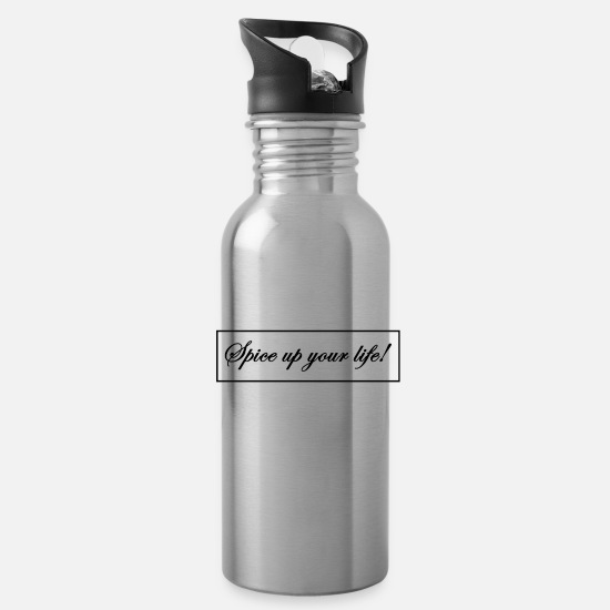 Positive Mugs & Drinkware - Motivational positive gifts for women, men, kids - Water Bottle silver