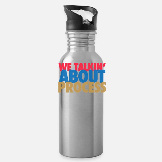 Philadelphia Mugs & Drinkware - we taling about process - Water Bottle silver