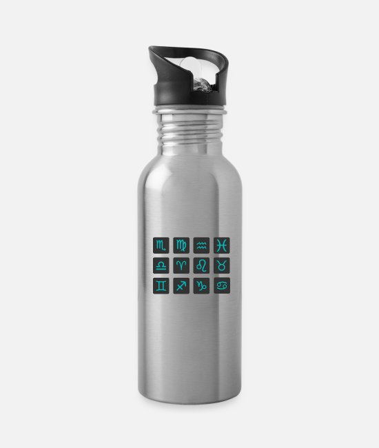Art Mugs & Cups - Astrology - Water Bottle silver
