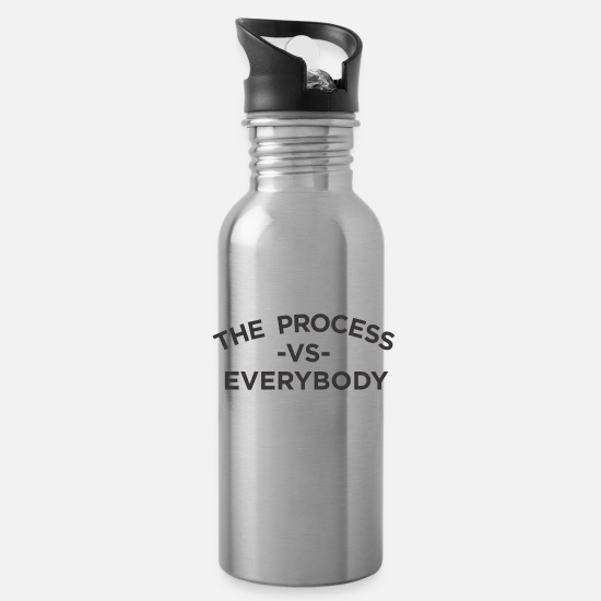 Trust Mugs & Drinkware - The process vs everybody - Water Bottle silver