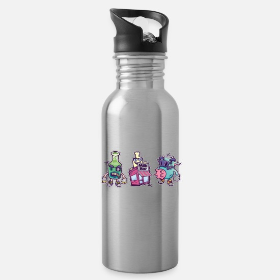 The Office Mugs & Drinkware - Down at the Milk Bar - Water Bottle silver