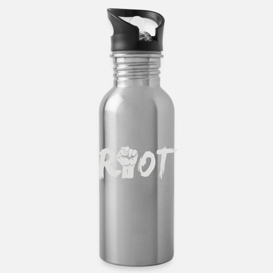 Game Mugs & Drinkware - Riot 2 - Water Bottle silver