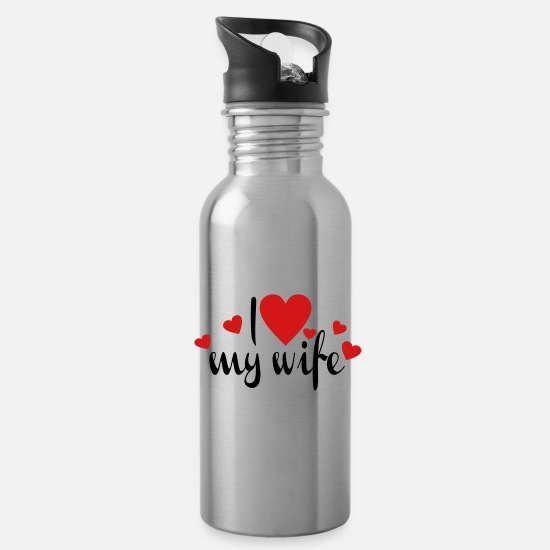 Wife Mugs & Drinkware - wife - Water Bottle silver