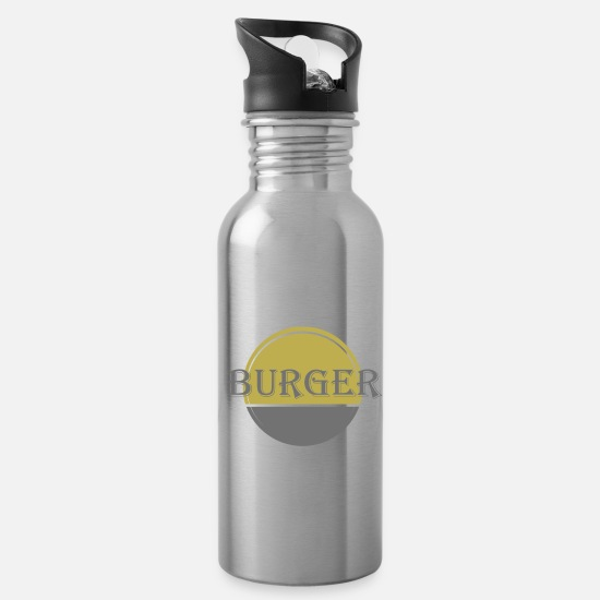 Big Mugs & Drinkware - Burger - Water Bottle silver