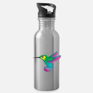 Graphics Vector-design Vector-graphic Hummingbird colorful vector graphic - Water Bottle
