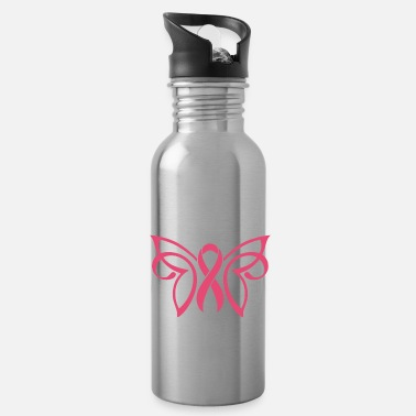 Breast Cancer Ribbon Breast Cancer Butterfly Ribbon - Water Bottle