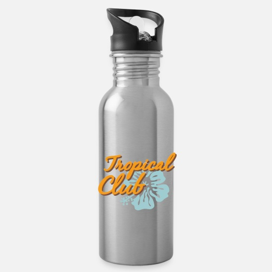 Idea Mugs & Drinkware - Tropical Club - Water Bottle silver