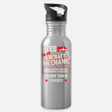 Nos Yes, I'm A An Aircarft Mechanic Nos I Don't Know - Water Bottle