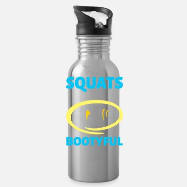 Crossfit Squats Make You Bootyful Crossfit Fitness Workout - Water Bottle