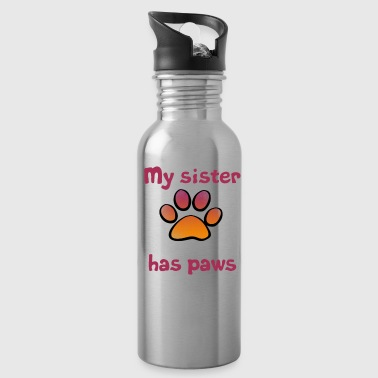 My Sister has paws - Water Bottle