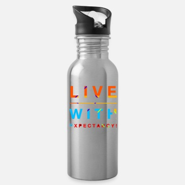 Expectant Live With Expectation! - Water Bottle