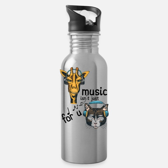 Catholic Mugs & Drinkware - Music isn't Just For You - Water Bottle silver