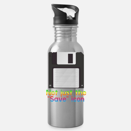 Memory Mugs & Drinkware - Save Me - Water Bottle silver