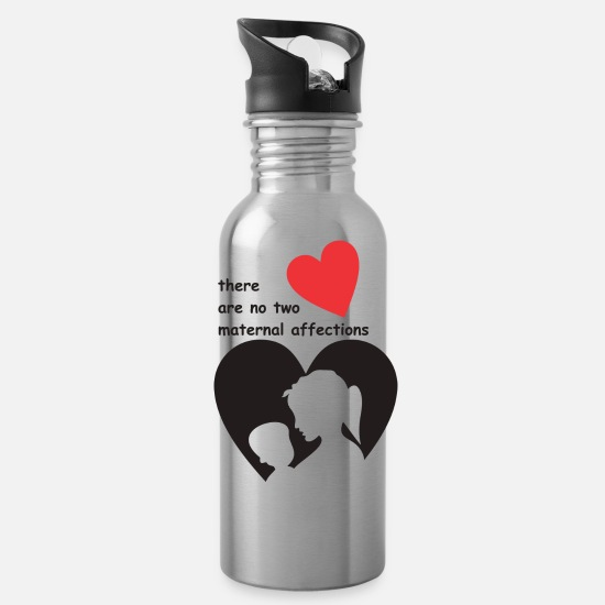 Funny Mugs & Drinkware - There are no two maternal affections - Water Bottle silver