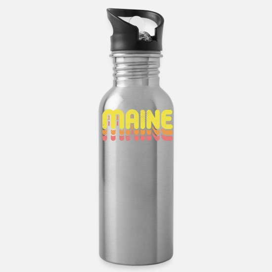 Maine Mugs & Drinkware - Maine The Pine Tree State - Water Bottle silver