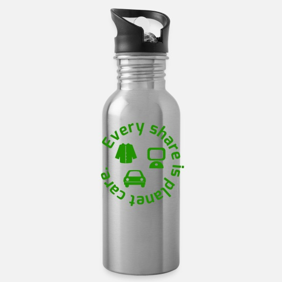 Birthday Mugs & Drinkware - Planet Care - Water Bottle silver
