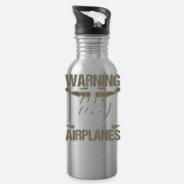 Airplane Airplane Aircraft Aviator Commercial Privat Pilot - Water Bottle