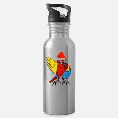 Scarlet parrot gift scarlet macaw christmas present dance - Water Bottle