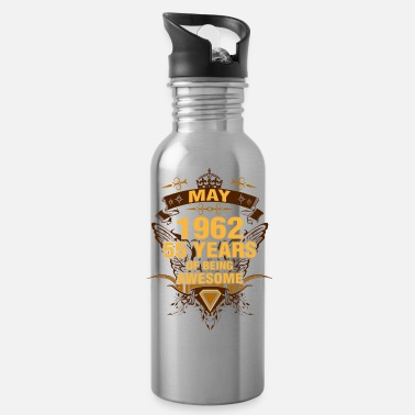 Awesome May May 1962 55 Years of Being Awesome - Water Bottle