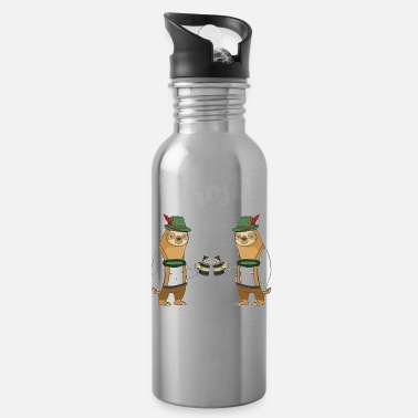 Beer Oktoberfest Beer Sloth Shirt Pretzel Lederhosen - Water Bottle